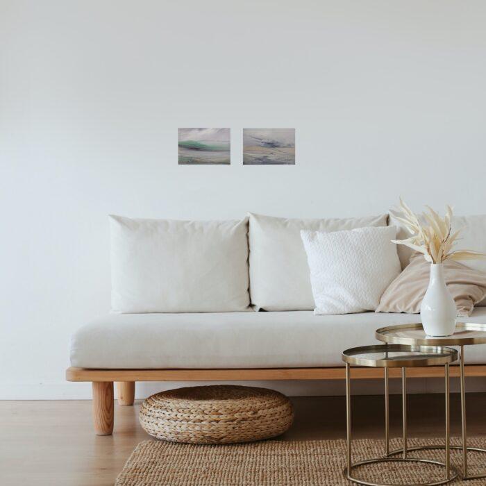 flint and shroud oil paintings in lounge