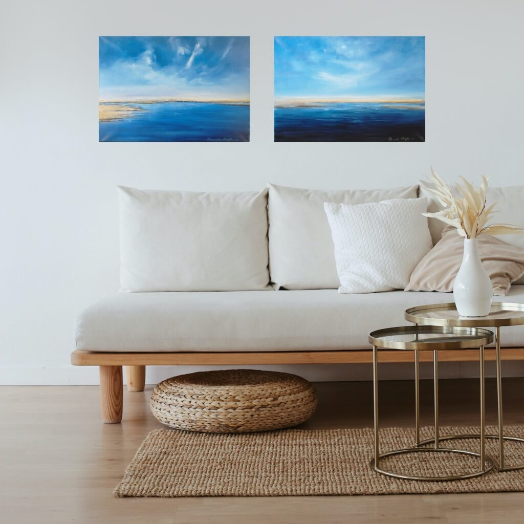 endless and dali dream oil paintings in lounge
