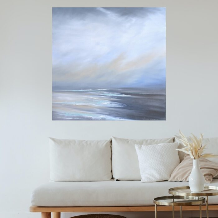 veiled thoughts painting in lounge