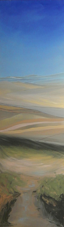 A thousand hills 120x35 oil on pvc foamboard