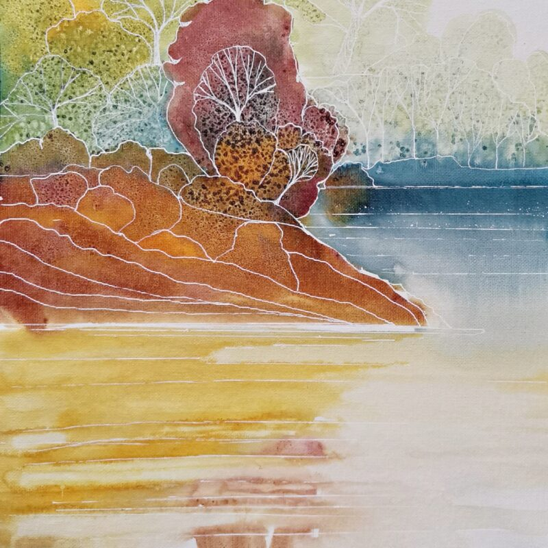 autumn ink painting 40x30