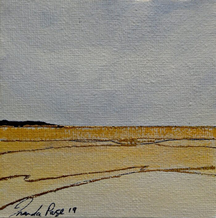 the hill 2 oil painting 10x10