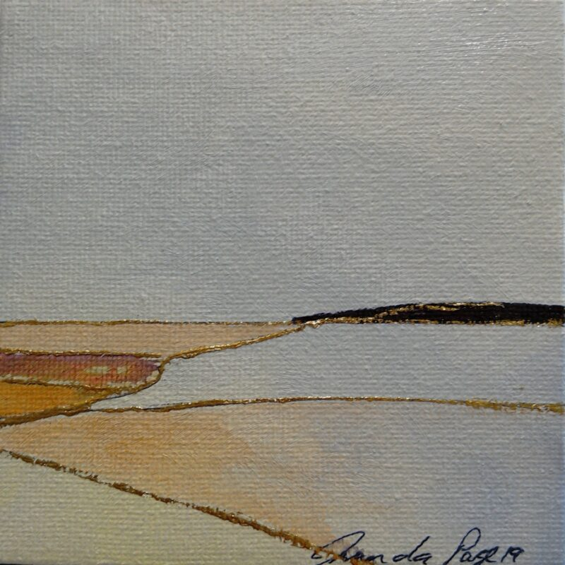 the hill 1 oil painting 10x10