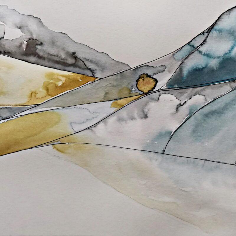 Acacia ink painting 20x30