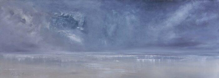 rain 54x150 oil on canvas
