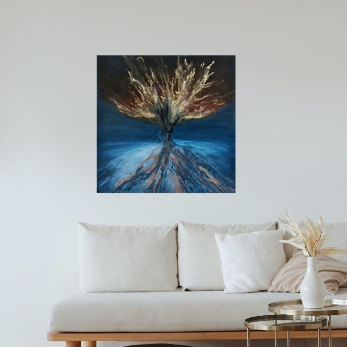 balance oil painting in lounge 100x100