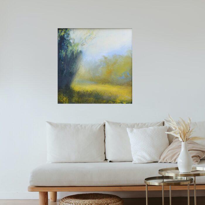 secret garden 81x81 oil in lounge
