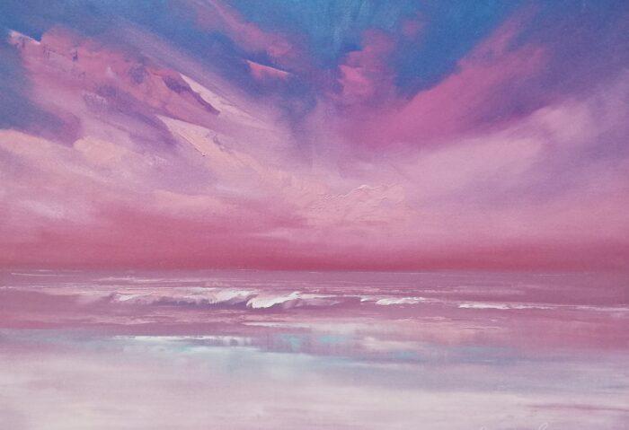 silk oil painting 42x60