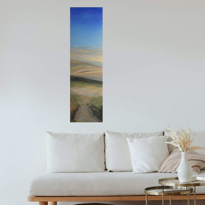 thousand hills oil painting in lounge