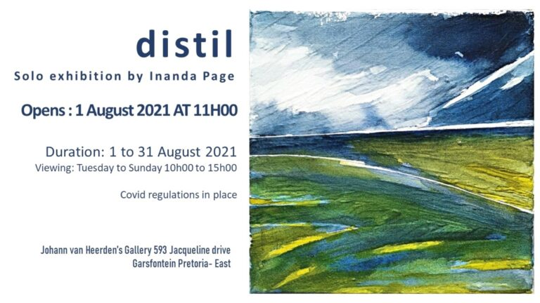 distil exhibition invitation