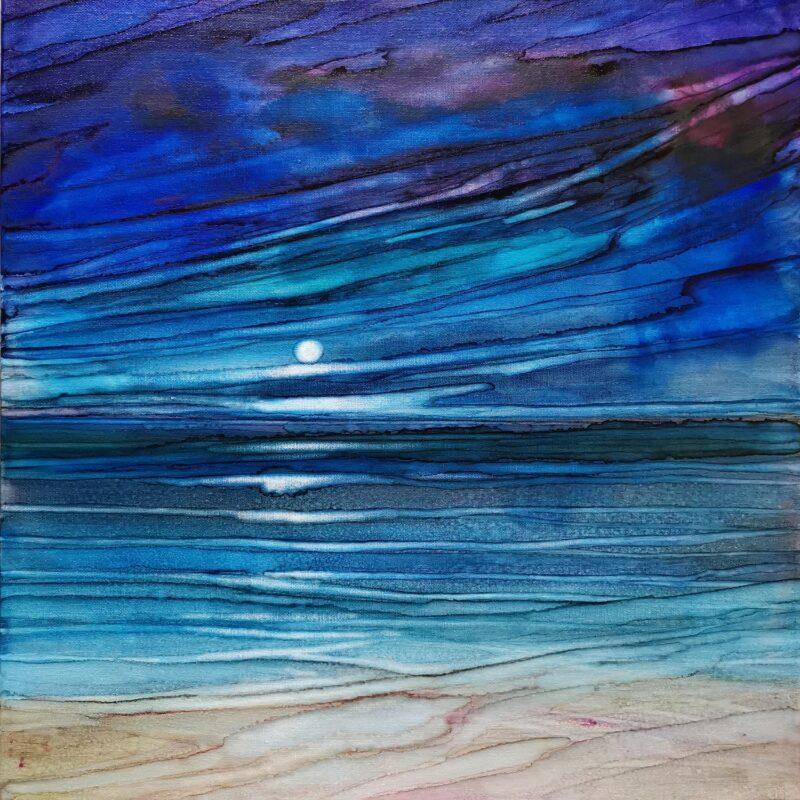 Blue dawn 50x50 ink