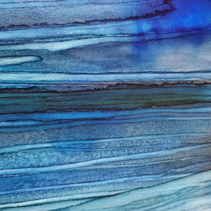 blue dawn ink painting textures