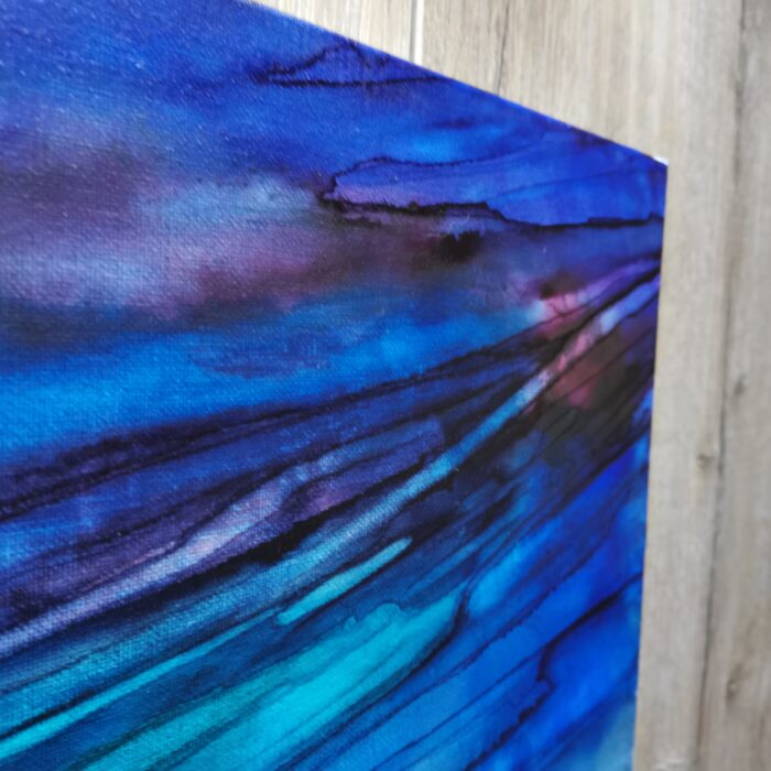 blue dawn ink painting colours
