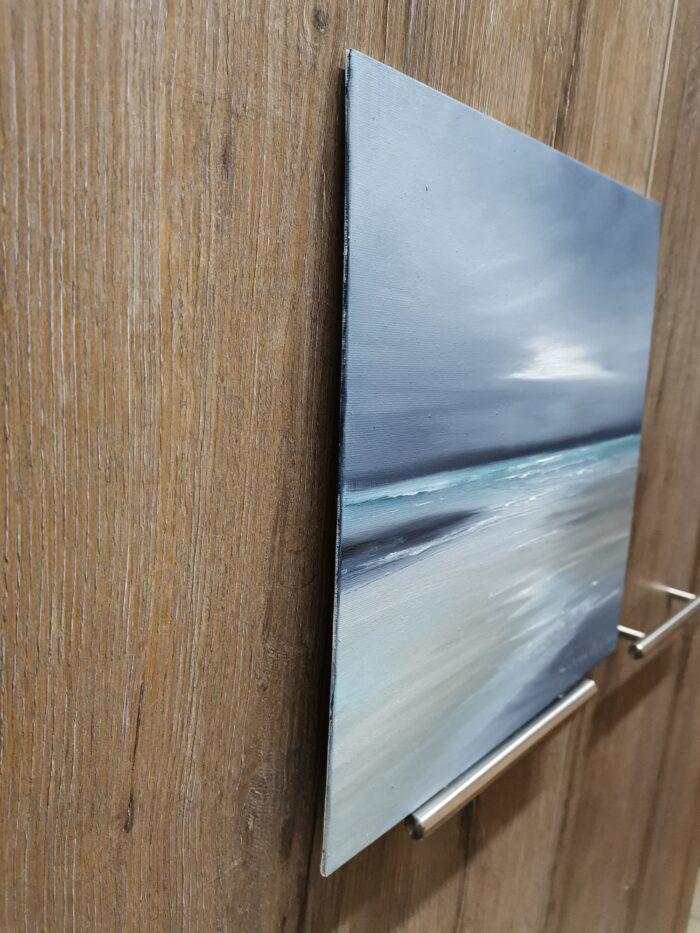 estuary oil painting canvas panel side view