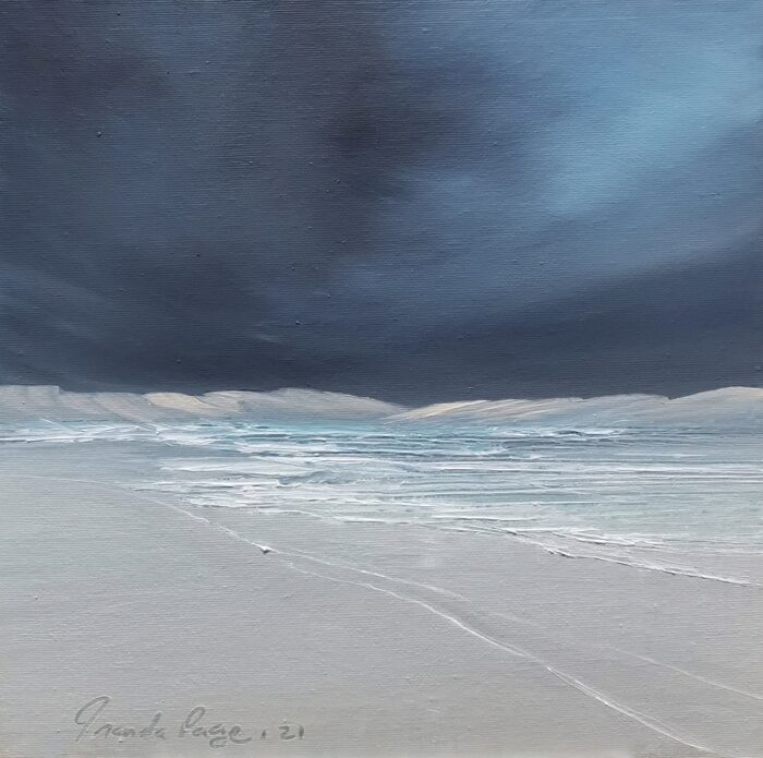 Desert edge 30x30 oil on canvas