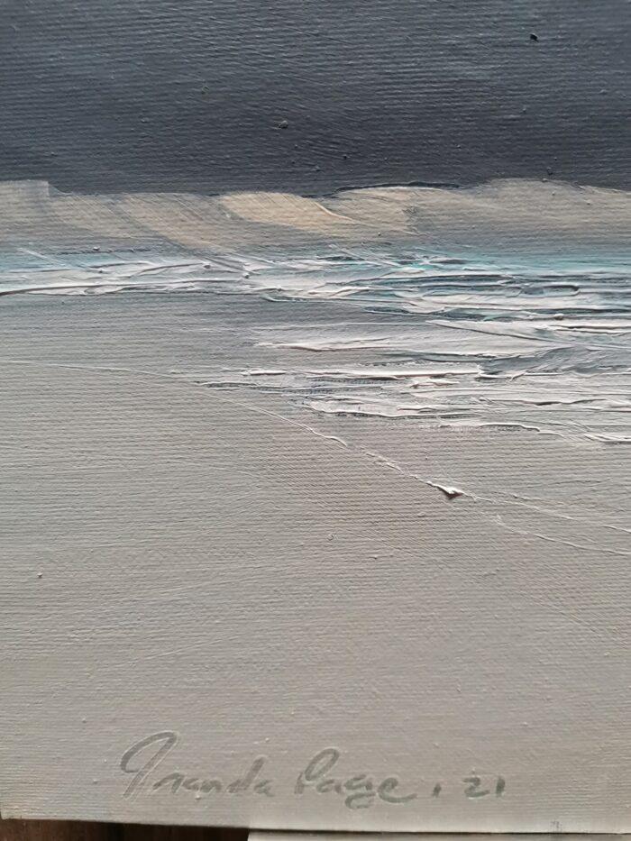 desert edge oil painting artist signature