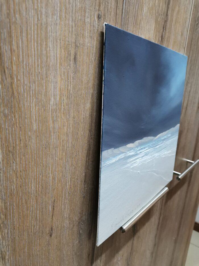 desert edge oil painting side view