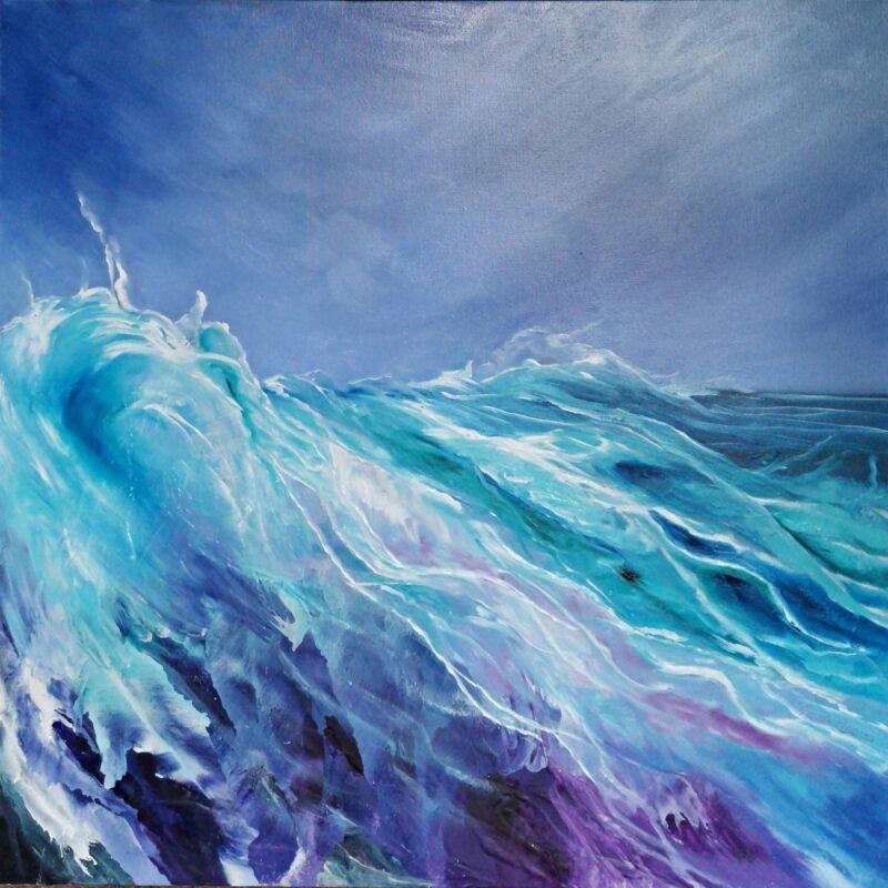 Silk 100x100 oil on canvas