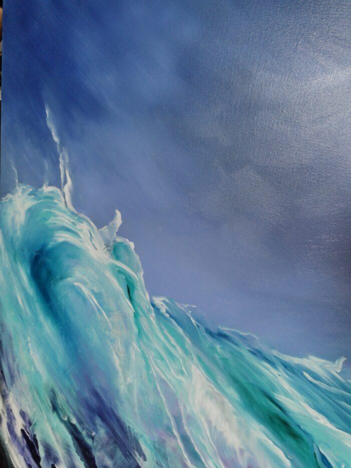 silk 100x100 oil painting breaking wave