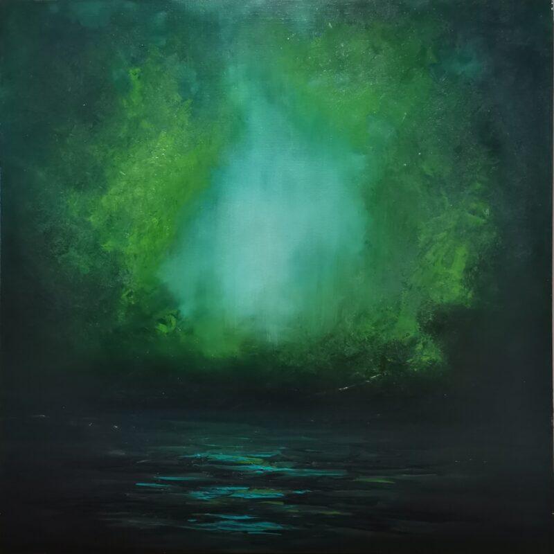 Teal 100x100 oil on canvas